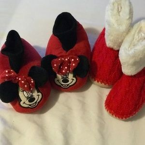 Other - 2 pairs of toddler winter slippers! Size 5/6